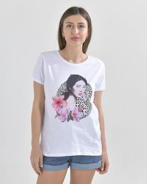 Μπλουζάκι Με Τύπωμα Αnimal Print