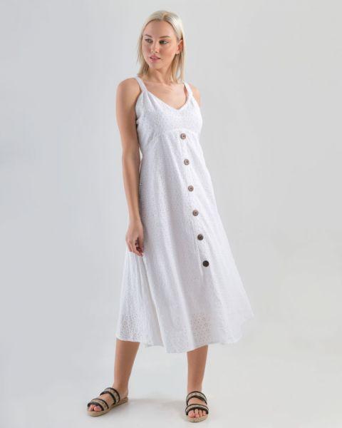 Φόρεμα Αμάνικο με Κουμπιά