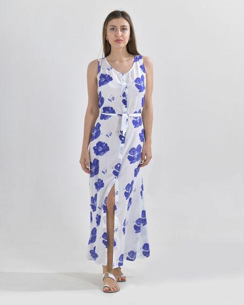 Φόρεμα Maxi Με Κουμπιά Floral