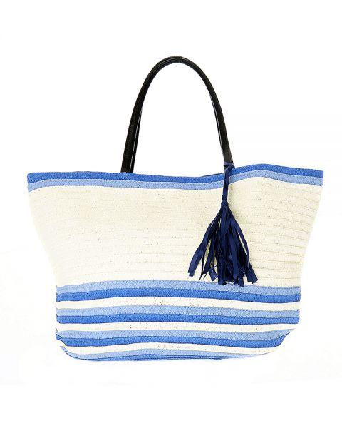 Τσάντα Θαλάσσης Ψάθινη Ριγέ
