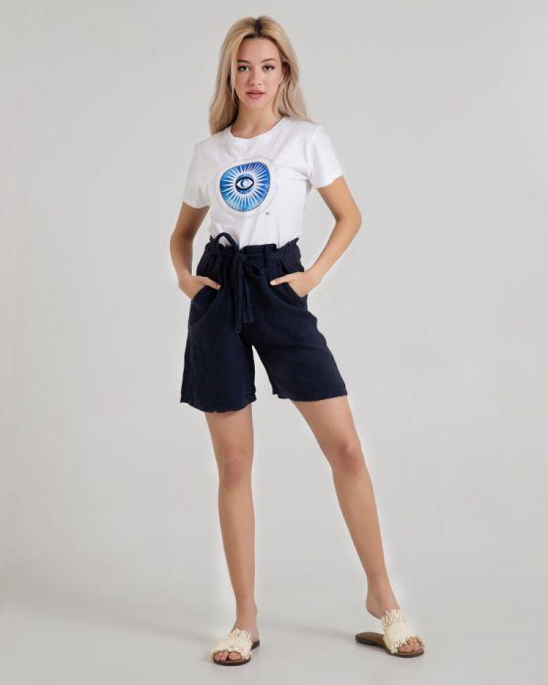 T-Shirt Mε Τύπωμα Evil Eye