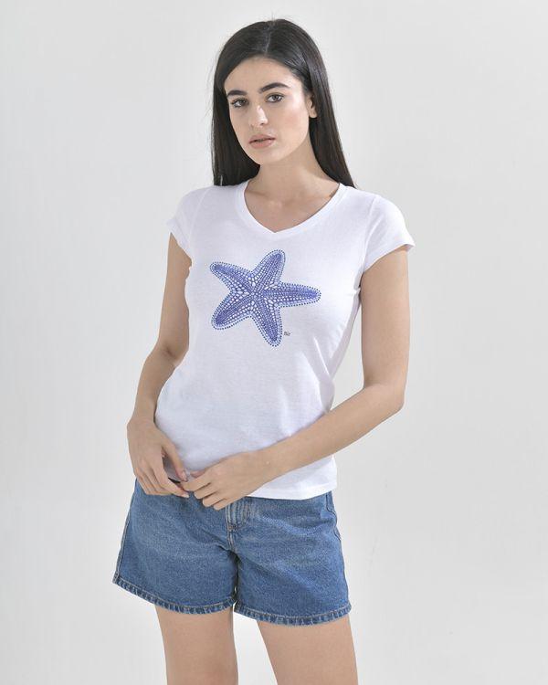 T-Shirt Mε Τύπωμα Αστερίας