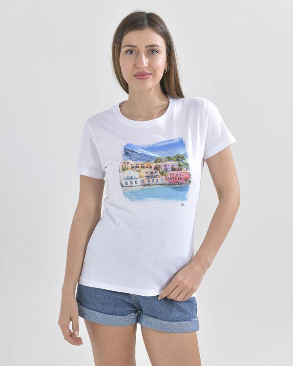 T-Shirt Mε Τύπωμα Κεφαλονιά