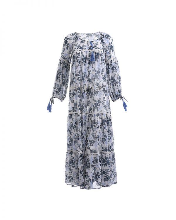 Φόρεμα Mακρυμάνικο Maxi Floral
