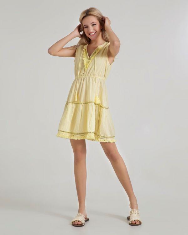 Φόρεμα Μini Με Κρόσσια