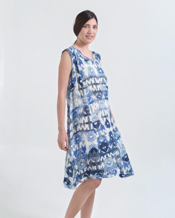 Φόρεμα Εμπριμέ Ριχτό
