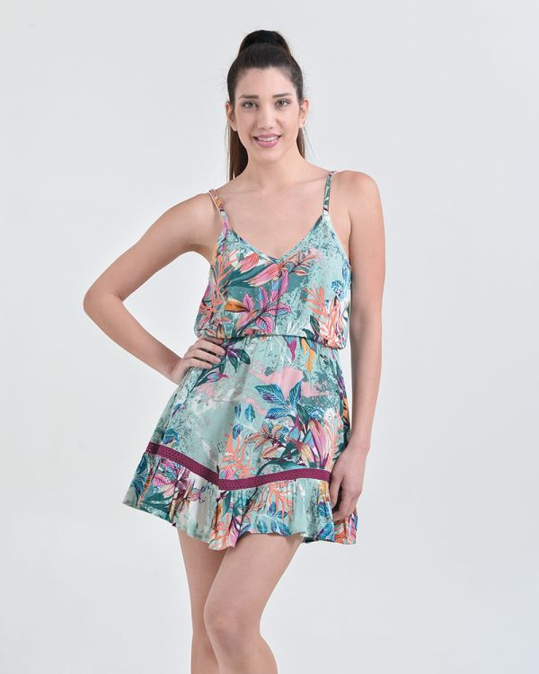 Φόρεμα Μini Tropical Print