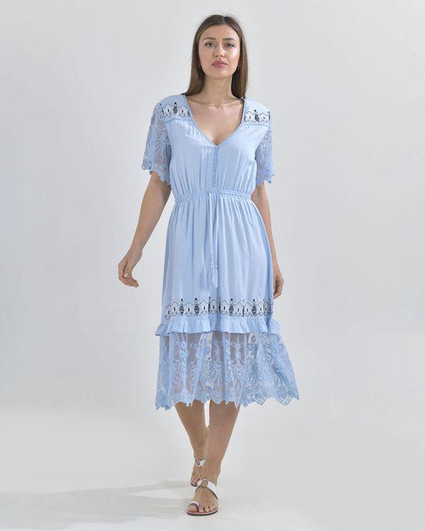 Φόρεμα Μidi Mε Κεντήματα