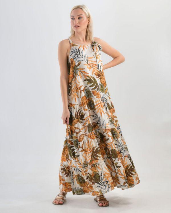 Μακρύ Φόρεμα Με Σχέδια