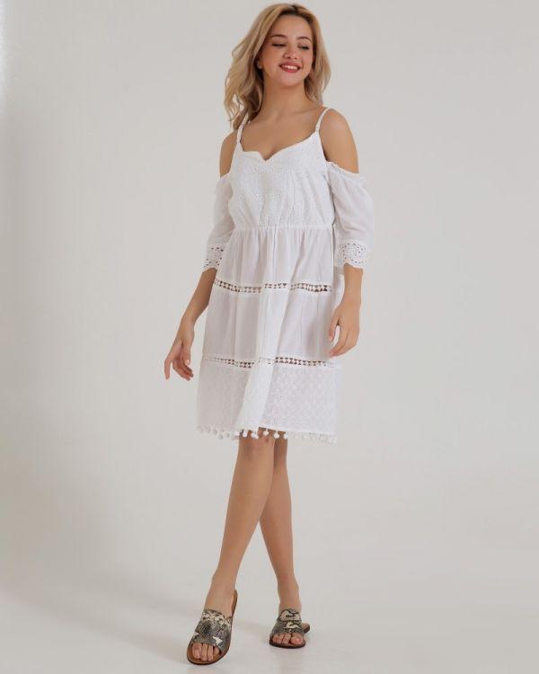 Φόρεμα Με Άνοιγμα στους Ωμους