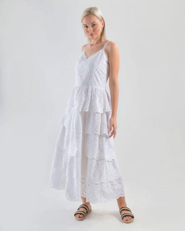 Φόρεμα Αμάνικο Δαντέλα