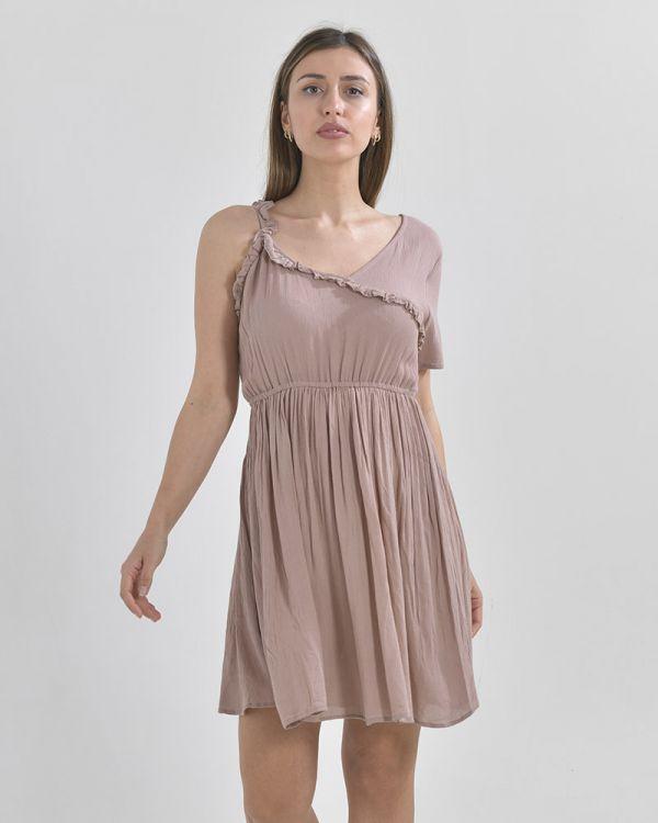 Φόρεμα Mini Mε Έναν Ώμο