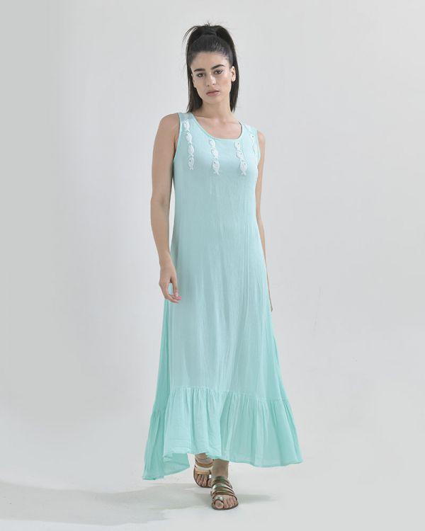 Φόρεμα Μaxi Mε Βολάν
