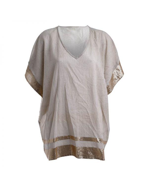 Καφτάνι/Μπλούζα Με Πούλιες