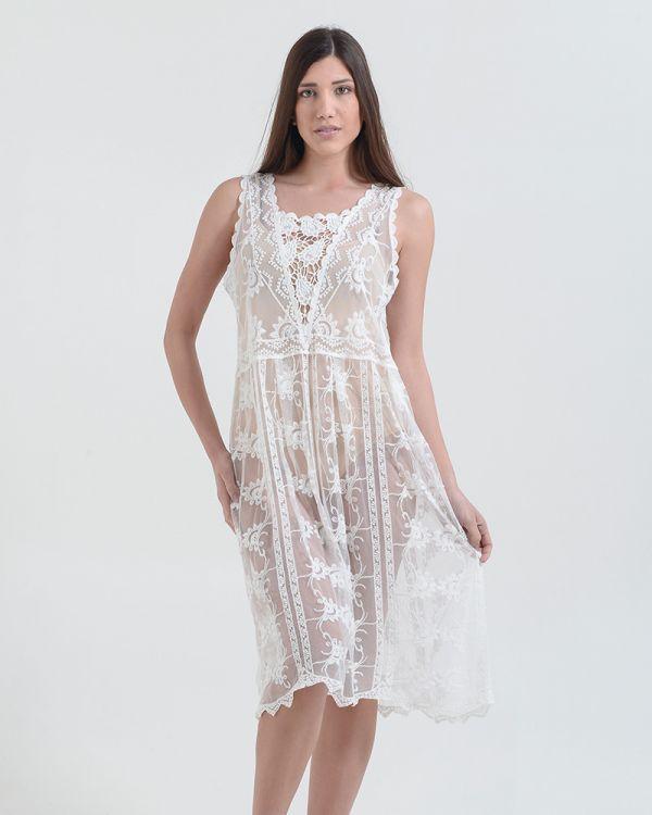 Φόρεμα Midi Δαντελένιο