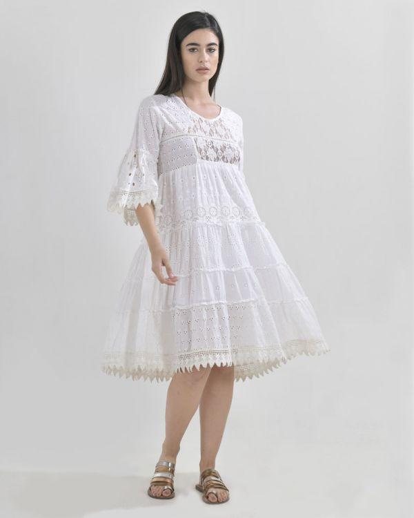 Φόρεμα Με Μακρύ Μανίκι