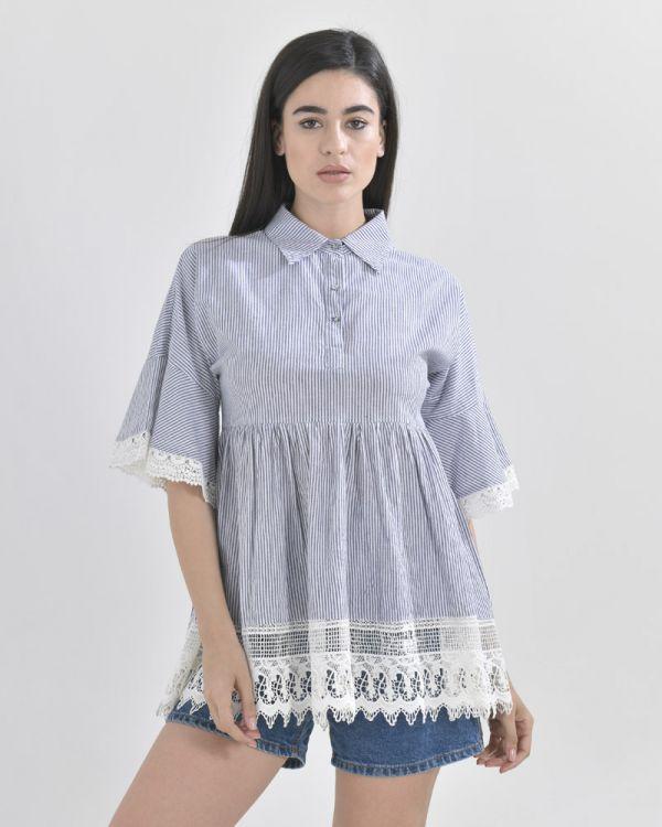 Μπλουζάκι Πουκαμίσα Ρίγε