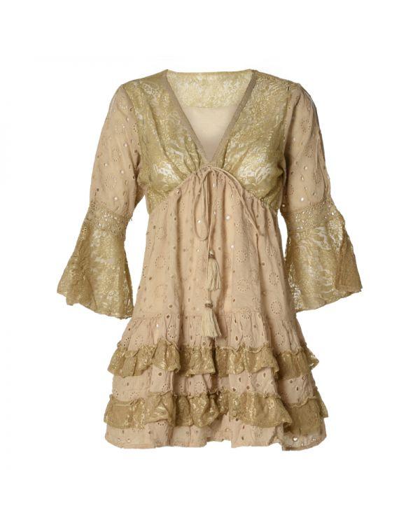 Φόρεμα Mini Mε Δαντέλα