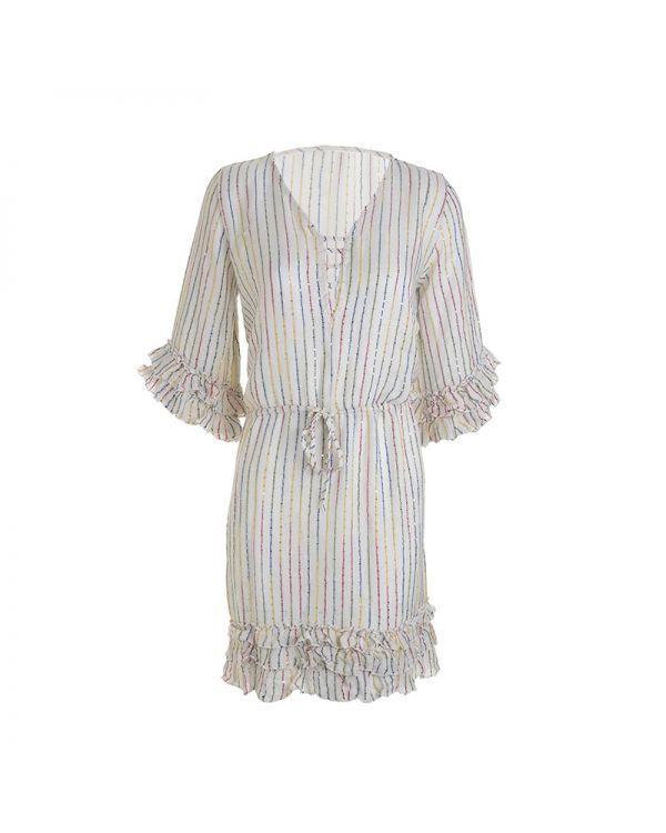 Φόρεμα Με Βολάν Στο Τελείωμα