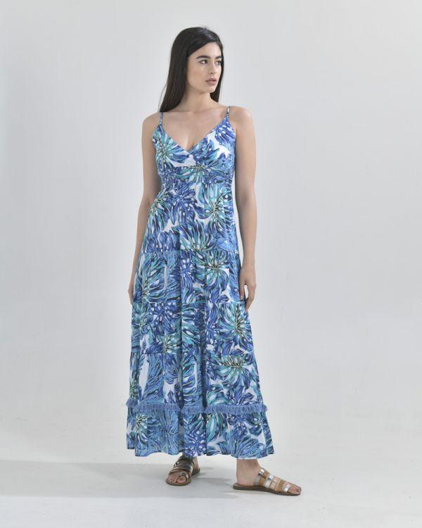 Φόρεμα Maxi Tropical Print