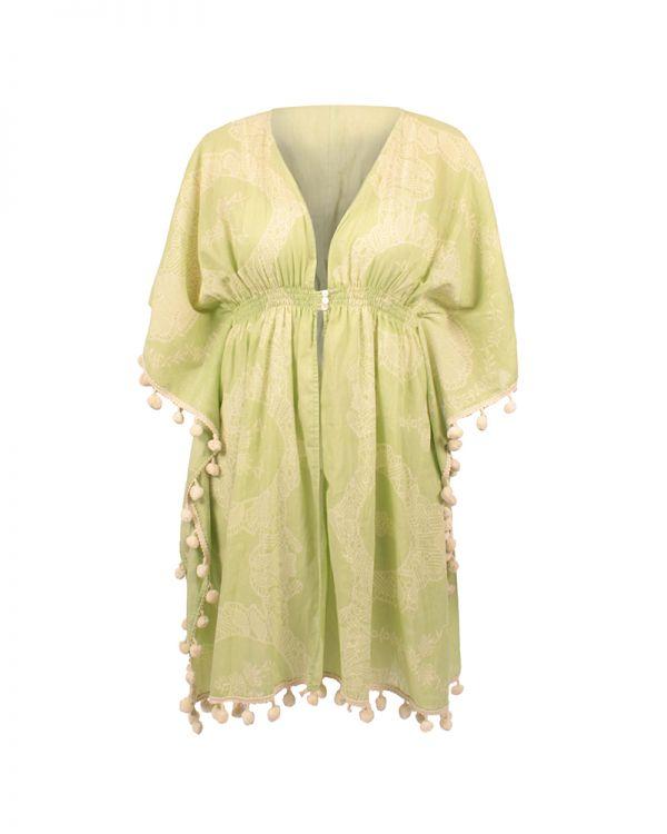 Φόρεμα/Καφτάνι Με Pom Pom