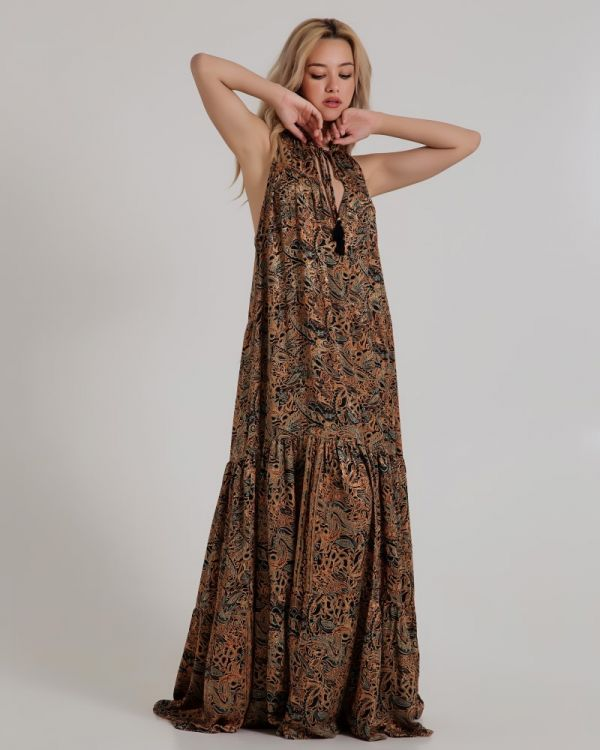 Φόρεμα Μaxi Εμπριμέ