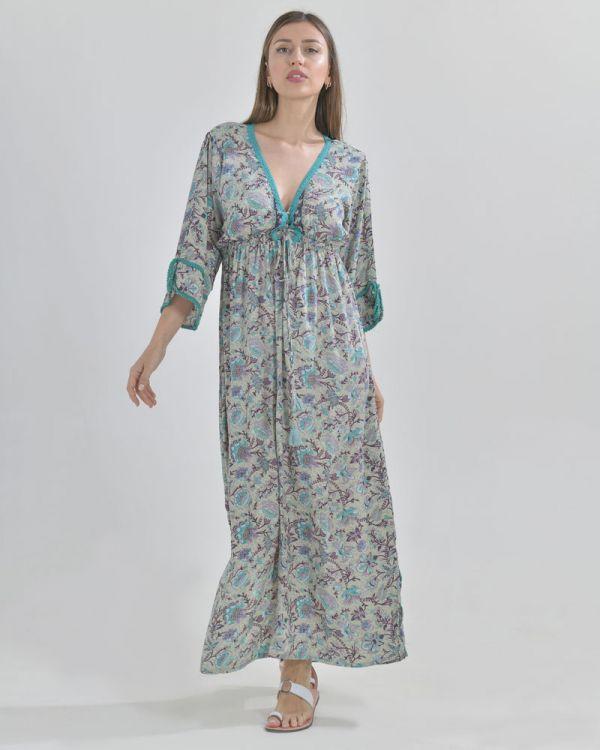 Φόρεμα Maxi Εμπριμέ