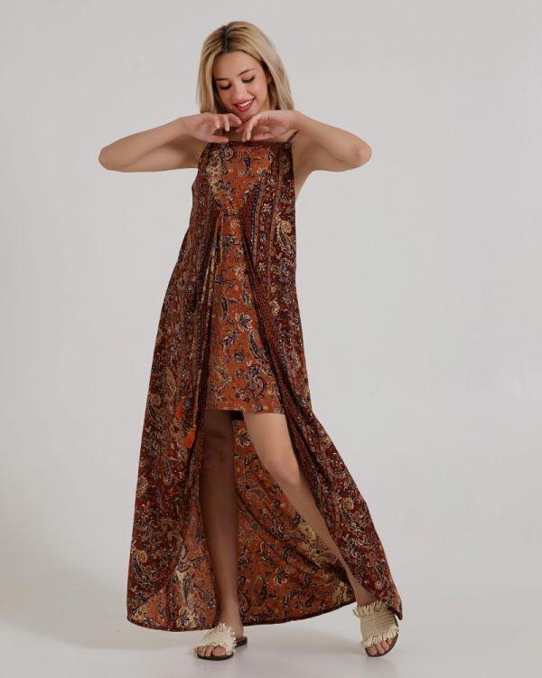 Φόρεμα Αμάνικο Κρουαζέ