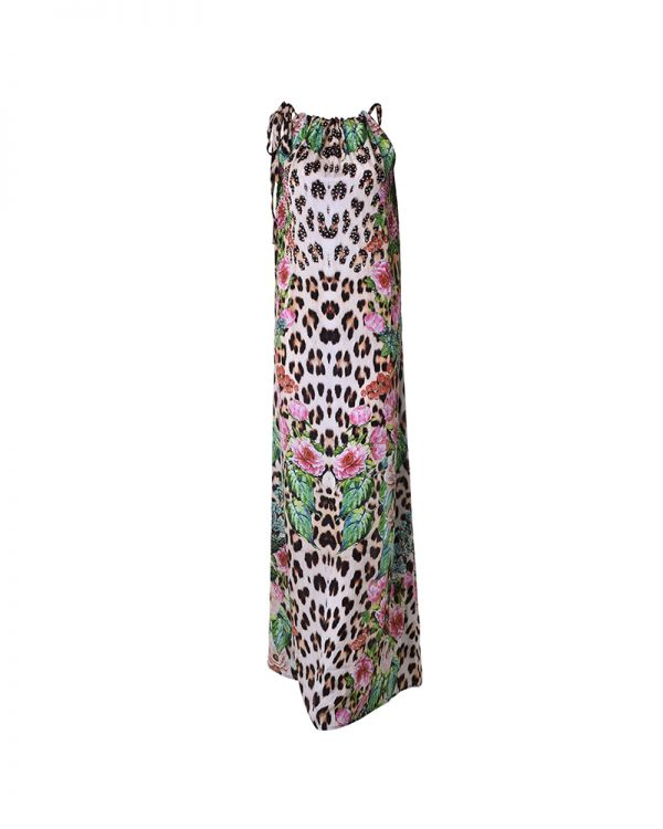 Φόρεμα Τιράντα Maxi Animal Print