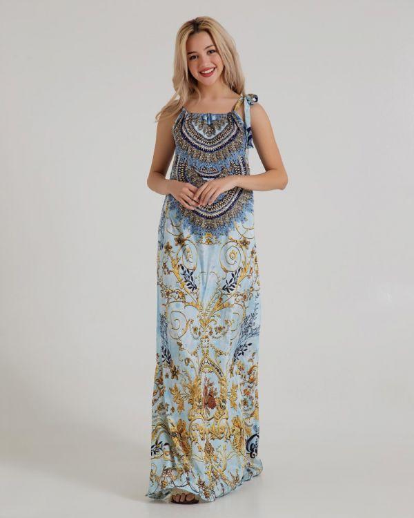 Φόρεμα Εμπριμέ Μακρύ