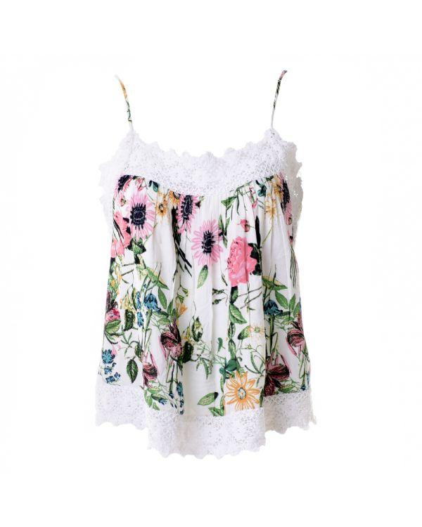 Μπλουζάκι Με Δαντέλα Floral