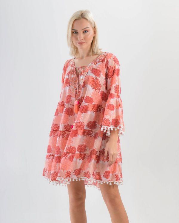 Φόρεμα Με Pom Pom