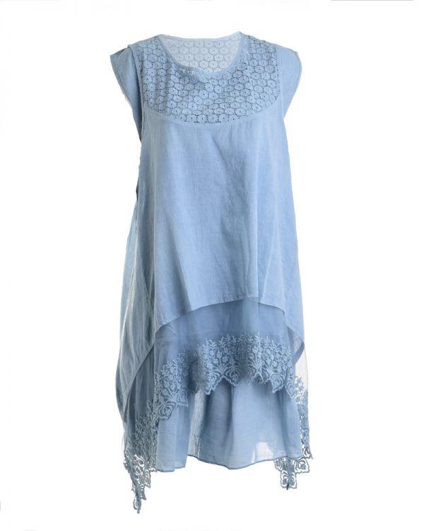 Φόρεμα Ασύμμετρο Με Δαντέλα