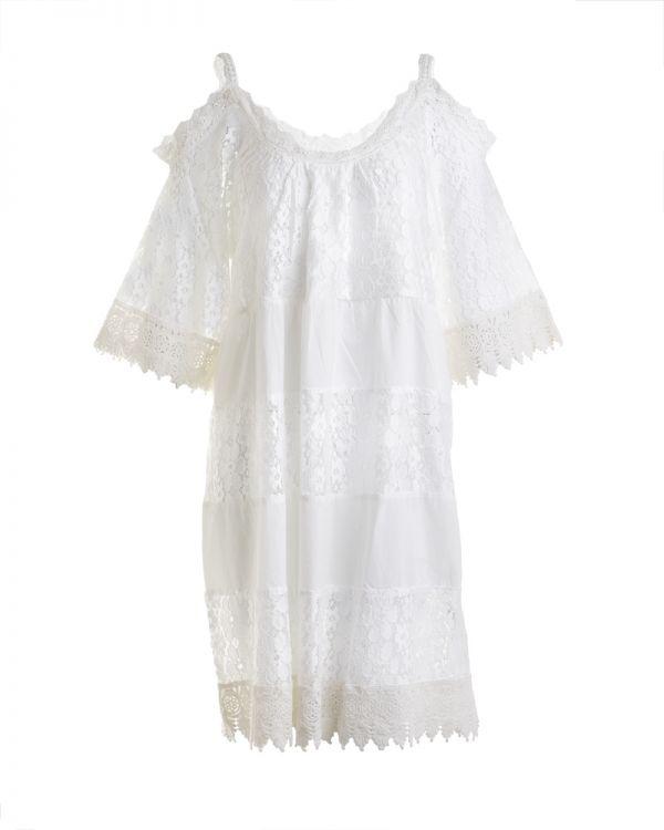 Φόρεμα Off Shoulder Με Δαντέλα