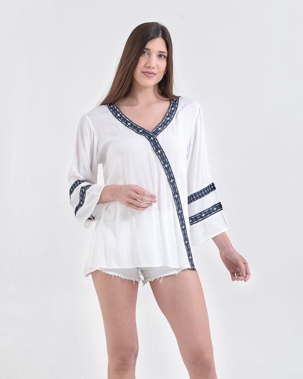 Μπλούζα/Καφτάνι Με Κέντημα