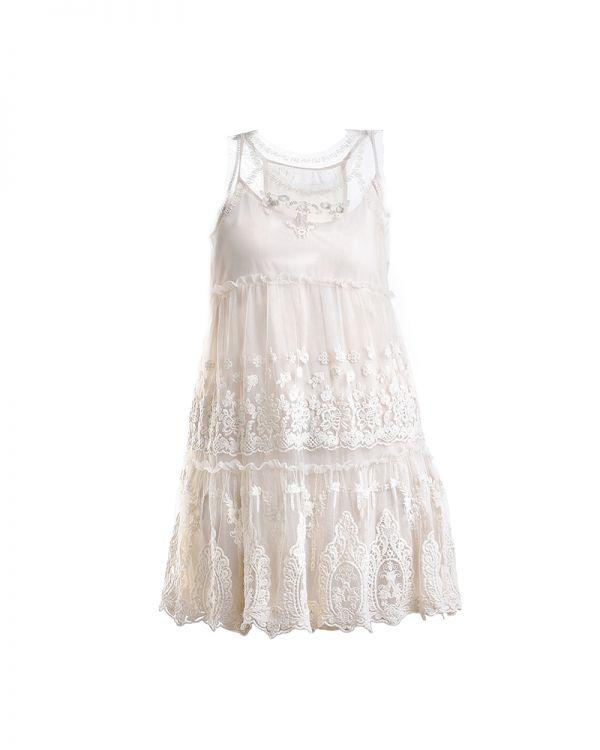 Φόρεμα Μini Με Δαντέλα