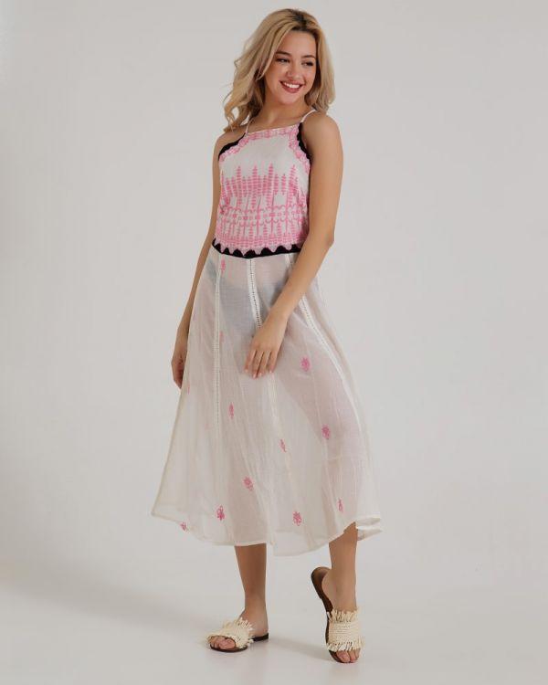 Φόρεμα Maxi Με Κέντημα