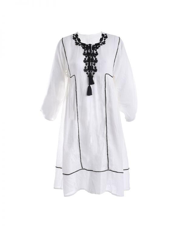 Φόρεμα Midi Με Κέντημα