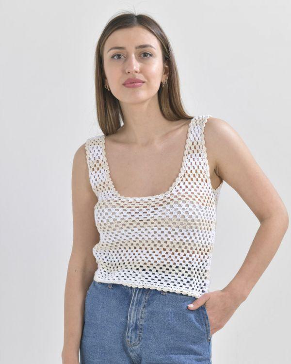 Μπλουζάκι Ριγέ Crochet