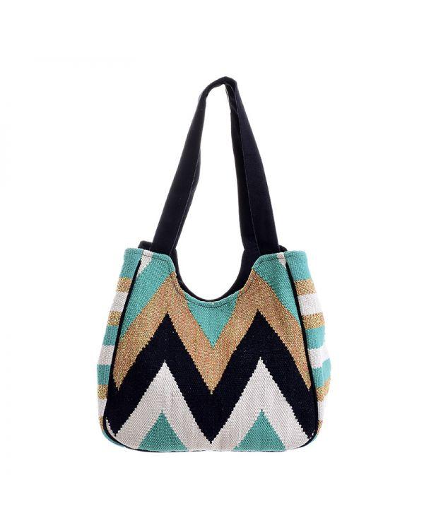 Τσάντα Ώμου Γεωμετρική