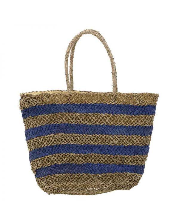 Τσάντα Ψάθινη Ριγέ