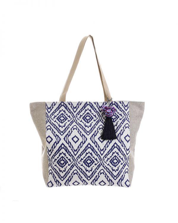 Τσάντα Με Γεωμετρικά Σχέδια