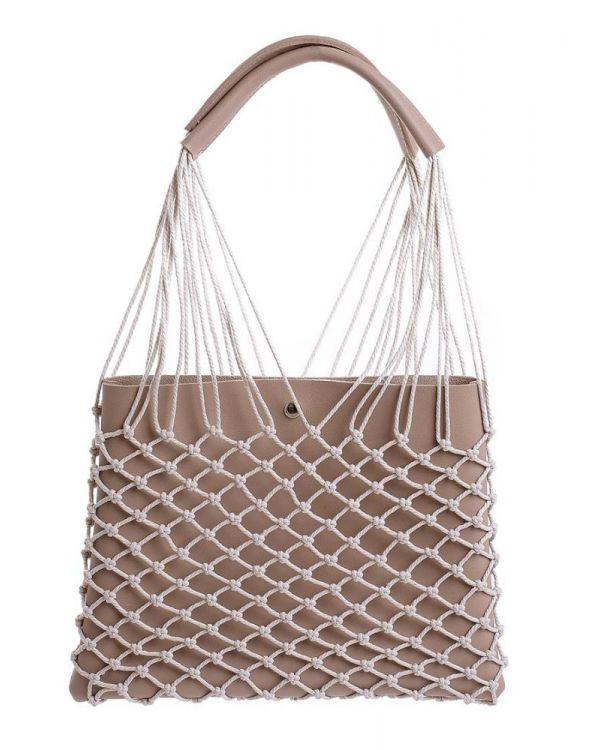 Τσάντα Με Διακοσμητικό Δίχτυ