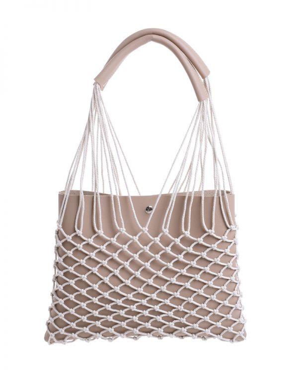 Τσάντα Με Εξωτερικό Δίχτυ