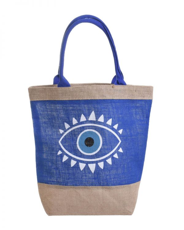 Τσάντα Ψάθινη Evil Eye