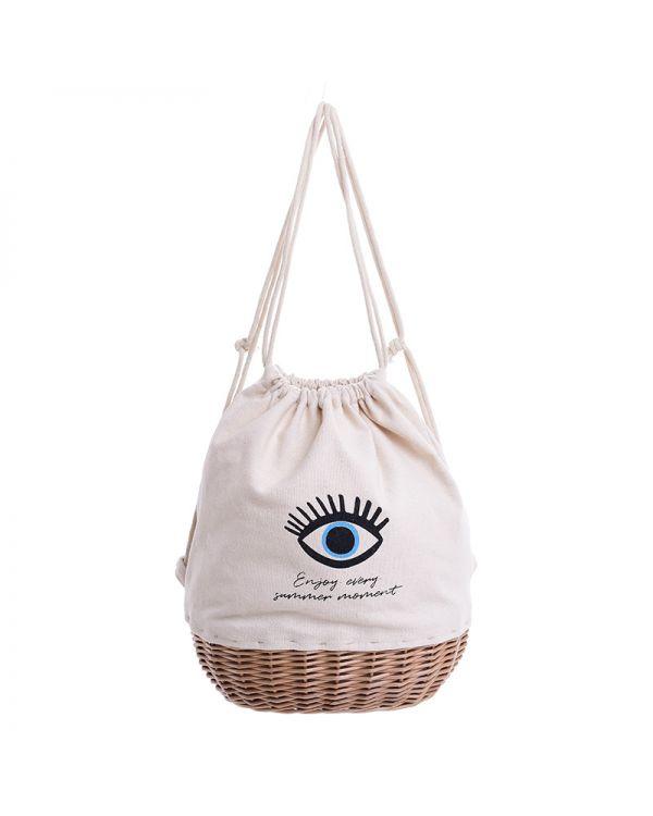 Τσάντα/Καλάθι Πουγκί Evil Eye
