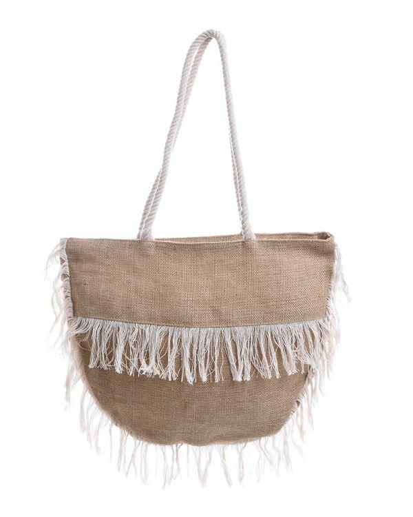 Τσάντα Ψάθινη Μισοφέγγαρο