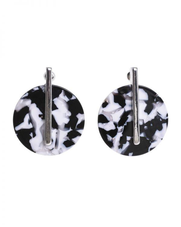 Σκουλαρίκια Ασπρόμαυρα