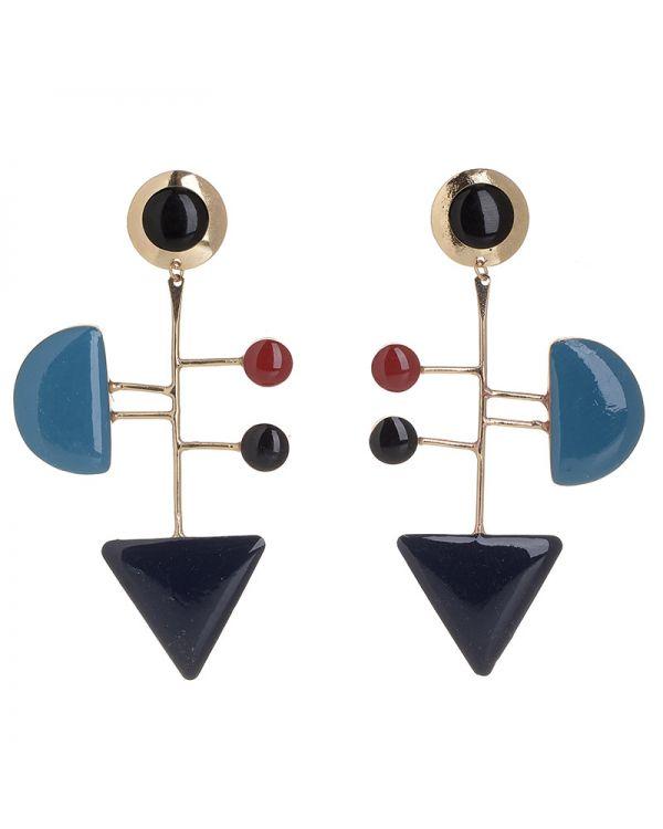 Σκουλαρίκια Γεωμετρικά