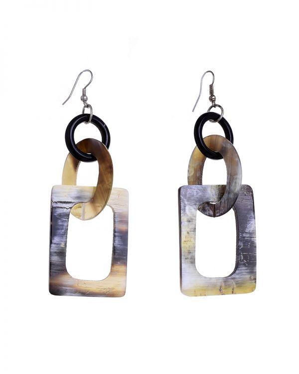 Σκουλαρίκια Γεωμετρικά Marble